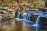 Indiana, Cataract Falls Recreation Area, Upper Cataract Waterfalls Photographic Print by Rona Schwarz