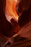 Navajo Nation, Eroded Sandstone Formations in Upper Antelope Canyon Photographic Print by David Wall