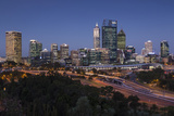 Australia, Perth, City Skyline from Kings Park, Dusk Photographic Print by Walter Bibikow
