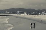 California, Los Angeles, Venice, Elevated Beach View from Venice Pier Fotodruck von Walter Bibikow