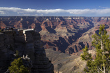 Arizona, Grand Canyon National Park, Grand Canyon and Tourists at Mather Point Photographic Print by David Wall