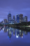 Australia, Victoria, Melbourne, Skyline Along Yarra River, Dawn Photographic Print by Walter Bibikow