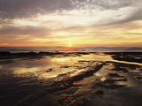 California, San Diego, Sunset Cliffs, Sunset Reflecting in Tide Pools Photographic Print by Christopher Talbot Frank