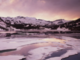 California, Sierra Nevada, Inyo Nf, Sunset over Frozen Ellery Lake Photographic Print by Christopher Talbot Frank