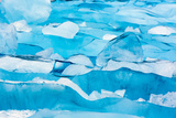 Alaska, Glacier Bay National Park. Close Up of Blue Ice Photographic Print by Jaynes Gallery