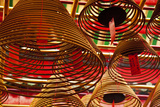 China, Hong Kong, Spiral Incense Sticks at Man Mo Temple Photographic Print by Terry Eggers