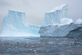 Antarctica. Charlotte Bay. Brash Ice and Icebergs Photographic Print by Inger Hogstrom