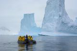 Antarctica. Charlotte Bay. Zodiac Cruising around Icebergs Photographic Print by Inger Hogstrom
