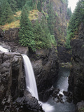 Elk Falls Park, Vancouver Island, Elk Falls Drops into a Deep Gorge Photographic Print by Christopher Talbot Frank