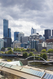Australia, Victoria, Melbourne, Skyline Along the Yarra River Photographic Print by Walter Bibikow