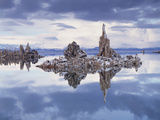 California, Sierra Nevada, Snow on Tufa Formations in Mono Lake Photographic Print by Christopher Talbot Frank