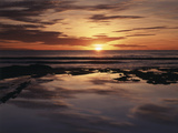 California, San Diego, Sunset Cliffs, Sunset over Tide Pools Photographic Print by Christopher Talbot Frank