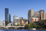 Australia, Victoria, Melbourne, Skyline from Yarra River Photographic Print by Walter Bibikow
