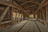 Cox Ford Covered Bridge over Sugar Creek,, Parke County, Indiana Photographic Print by Chuck Haney