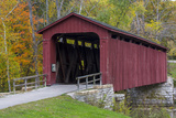 Cataract Covered Bridge over Mill Creek at Lieber, Indiana Photographic Print by Chuck Haney