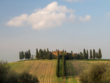 Europe, Italy, Tuscany. Tuscan Villa Near the Town of Pienza Photographic Print by Julie Eggers