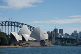 Australia, Sydney. Landmark Sydney Opera House and Harbour Bridge Photographic Print by Cindy Miller Hopkins