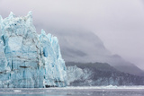Alaska, Glacier Bay National Park. Margerie Glacier and Forested Mountain Photographic Print by Jaynes Gallery