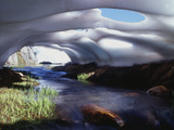 California, Inyo Nf, Twenty Lakes Basin, Stream Through an Ice Cave Photographic Print by Christopher Talbot Frank