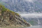 Alaska, Glacier Bay National Park. Waterfall Cascades Down Steep Cliff Photographic Print by Jaynes Gallery