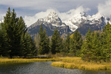 Grand Tetons, from Schwabachers Landing, Grand Teton National Park, Wyoming, USA Photographic Print by Michel Hersen