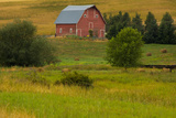 Red Barn, Hay Bales, Albion, Palouse Area, Washington, USA Photographic Print by Michel Hersen