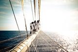 Star Clipper Sailing Cruise Ship, Deshaies, French Caribbean, France Photographic Print by Sergio Pitamitz