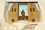 New Mexico. Painting in the Mission San Jose De La Laguna Photographic Print by Luc Novovitch