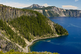 Rim, Crater Lake, Crate Lake National Park, Oregon, USA Photographic Print by Michel Hersen