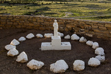 New Mexico. Statue of St Francis Outside Mission San Jose De La Laguna Photographic Print by Luc Novovitch