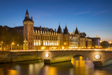 Twilight over the Concierge and Pont Au Change, Paris France Photographic Print by Brian Jannsen