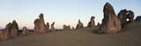 Australia, Cervantes, View of Pinnacle Desert in Nambung National Park at Sunrise Photographic Print by Paul Souders