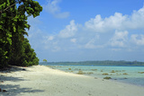 India, Andaman Islands, Havelock, White Sand Beach at Low Tide Photographic Print by Anthony Asael
