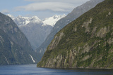 New Zealand, Fiordland National Park, Milford Sound. Scenic Fjord Fotodruck von Cindy Miller Hopkins