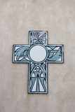 New Mexico, Laguna Mission. Cross in Mission San Jose De La Laguna Photographic Print by Luc Novovitch