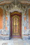 Bali, Indonesia. Carved Doorway to Hindu Priest House, Family Compound Photographic Print by Charles Cecil