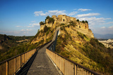 Evening View of Civilta Di Bagnoregio and the Long Bridge Photographic Print by Terry Eggers