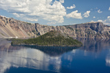 Crater Lake, Wizard Island, Crater Lake National Park, Oregon, USA Photographic Print by Michel Hersen