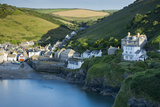 Picturesque Harbor Town of Port Isaac, Cornwall, England Photographic Print by Brian Jannsen