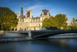 Hotel De Ville Along the Banks of River Seine, Paris, France Photographic Print by Brian Jannsen