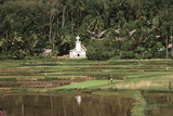 Asia, Indonesia, Sulawesi, View of Church and Field Photographic Print by Tony Berg