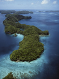 Palau, Micronesia, Aerial View of Rock Island Photographic Print by Stuart Westmorland