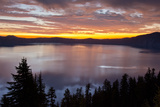 Sunrise, Crater Lake National Park, Oregon, USA Photographic Print by Michel Hersen
