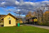 Cuyahoga Valley Scenic Railroad in Autumn in Cuyahoga National Park, Ohio, USA Photographic Print by Chuck Haney