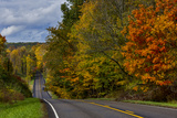 Hills on Highway 46 in Autumn West of Spencer, Indiana, USA Photographic Print by Chuck Haney