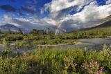 Rainbow over the St Mary River in Glacier National Park, Montana, USA Photographic Print by Chuck Haney