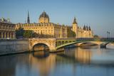 Concierge and the Buildings of Ile De La Cite, Paris, France Photographic Print by Brian Jannsen