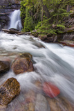 Baring Falls in Glacier National Park, Montana, USA Photographic Print by Chuck Haney