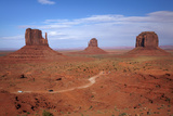 Navajo Nation, Monument Valley, Mittens and Valley Scenic Drive Photographic Print by David Wall