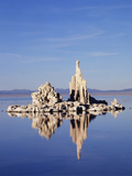 California, Sierra Nevada, Tufa Formations Reflecting in Mono Lake Photographic Print by Christopher Talbot Frank